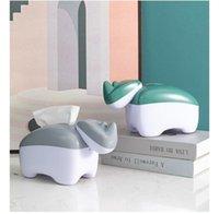 Boîtes de tissus serviettes deux dans un bureau cure-dents Boîte rhinocéros lisse tête sans bavures ne pas blesser les mains tendresse et élégance