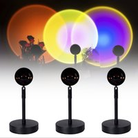 LED Night Light Rainbow Projector Sunset Nightlights Coffee ...