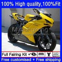 Injeção de carroçaria para Ducati 1198R 848 1098 1198 Gloss Yellow S 2007 2009 2010 2012 2012 CORPO 14NO.66 848R 1098R 07-12 848S 1098S 1198S 07 08 09 10 11 12 12 OEM Feeding