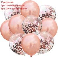 10 unids / lote brillo confeti látex globos romántico decoración de boda bebé fiesta de cumpleaños decoración de fiesta claro aire globos