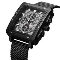 Hand Sechs Uhr 6.11 Ansage Multifunktionales Quarzmetallgitternährung