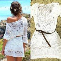 Casual Dresses Women Ladies Lace Crochet Dress Summer Clothes Cover Up Swimwear Bathing Suit