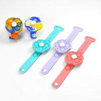 Christmas Decorations Favor Finger Toys fingertip Bracelets Sensory Tie-dyed Color Spinning Luminous Kids Mosquito Repellent Silicone Bracelet Bubble Gifts item