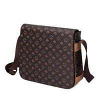 M41426 Designer Kreuzkörper Männer PU Leder Handtasche Schwarz Aktentasche Braun Laptop Umhängetaschen Messenger Bag 27cm