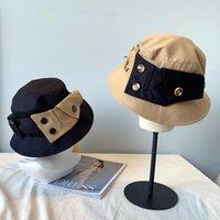 Wide Brim Hats Designer Button Autumn Winter Women Bucket Fashion Brand Man Hat Ladies Plaid Elegant Special Hiphop Sunhat Gorros