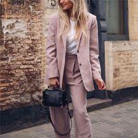 Frühlingsmode Frau Rosa Lose Basis Blazer Weibliche Elegante Massivfarbe Oberbekleidung Damen Süße Übergroße Button Jacke Damen Anzüge Blaze