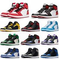 Jumpman jordan 1 OG Basketball shoes Running shoes كبار حجر السج UNC بلا خوف الدرجة الأولى رحلة PHANTOM TURBO الأخضر 1 اللوح الخلفي رياضة حذاء رياضة حجم مدرب 36-46