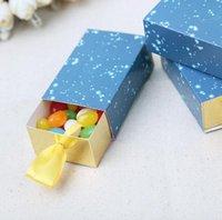 로맨틱 스타 테마 종이 사탕 상자 생일 결혼식 호의 패키지 상자 작은 서랍 상자 선물용 베이비 샤워 DWE0013
