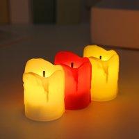 12 adet / takım Cadılar Bayramı LED Mumlar Alevsiz Zamanlayıcı Mum Tealights Pil Kumandalı Elektrikli Işıklar Düğün için Tealight Tealight GWD10821