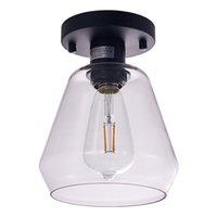 현대 LED 천장 조명 블랙 Whiteled 천장 램프 85-265V 아트 장식 D17cm H22 cm에 의해 집 거실 식당 식당 식당