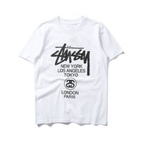 21 SS Summer Mens T Shirt Fashion Simple Pure Cotton Blanco y negro Parejas Ropa Casual Carta de alta calidad Aumentar libremente Aumentar de puerta a puerta Oso Hip Hop 2XL