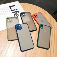 Telefoonhoes voor iPhone 6 7 8 Plus X 11 12 PRO MAX X XR XS MAX 7PLUS Luxe Contrast Kleur Frame Matte Hard TPU + PC Beschermend