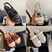 2021 Klassische Twine Gewebte Sandalen, Casual Lady Hausschuhe mit Marke Schnalle Design, Schwarz-Weiß Einfache Designer Weibliche Schuhe 35-40