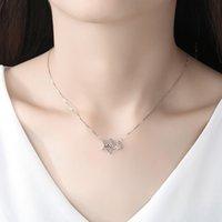 Collier de bijoux de créateur Heart 925 Sterling Silver Clavicle Chain Fashion All-match Convient à la fête de la collecte sociale Trendy Star Pendentif