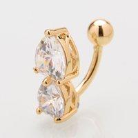 1 pieza de acero anillo ombligo cristal perforado ombligo ombligo pendiente oro ombligo penetración sexy cuerpo joyería perforación 969 t2