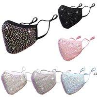 Fashion Bling Diamond Protective Mask 18 Colors PM2.5 Dustproof Face Masks Washable Reusable with Rhinestones HWB10140
