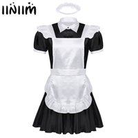Sexy Set Men Sissy Maids Cosplay Uniform Outfit French Apron Maid Mini Babydoll Dress Halloween Porn Roleplay Costume Homme