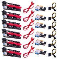 Ver009 USB 3.0 PCI-E 라이저 Ver 009s Express 1X 4X 8X 16X Extender 라이저 어댑터 카드 SATA 15pin ~ 6 핀 전원 케이블