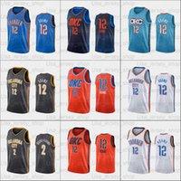 2021 Basketbol forması Steven Adams ve Okc Erkekler Kadınlar Gençlik Beyaz Siyah Kırmızı Turuncu Mavi