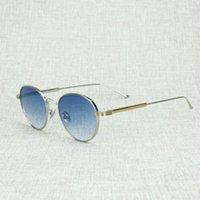 Lunettes de soleil ovales vintage de haute qualité Hommes Clear Chairl Cadre Lecture Retro Sun Lunettes Oculos Shades Lunettes de protection pour la conduite de l'été