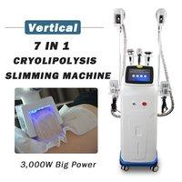 7 en 1 Cryolipolysis Máquina de congelación de grasa Mini Cryo Double Chin Remoción Pérdida de peso RF Cavitación Lipolaser Equipo