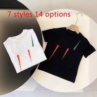 Çocuklar Aile Eşleştirme Kıyafetler T Shirt Tops Tees Harfler Giyim Kız T-Shirt Moda Rahat Rahat Çocuk Erkek Bebek 14 Stilleri Giysileri Yaz