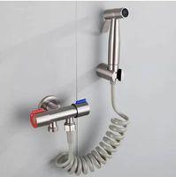 المرحاض المحمولة، صنبور، البخاخ، بندقية رش والتبديل، 304 غسالة المواد الفولاذ المقاوم للصدأ. بيديه الحنفيات