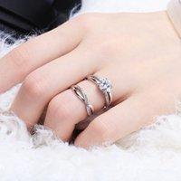 Evlilik Express S925 Saf Gümüş Günü Güney Kore Basit Yaratıcı Açılış Simülasyon Çıplak Elmas Yüzük Severler RCHP