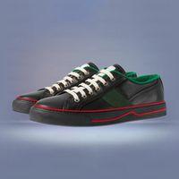 50٪ خصم شعبية العصرية مصمم الأحذية بيع للرجل المرأة جلد قماش حذاء حرف g نمط الأخضر الأحمر شريط الرياضة الأبيض عارضة اللباس منصة منصة أحذية رياضية مع مربع