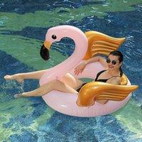 Rooxin Flamingo Havuz Şamandıra Yüzme Yüzük Şişme Daire Kauçuk Yüzük Plaj Parti Su Spor Havuzu Oyuncaklar için Kadın Po Sahne 210630
