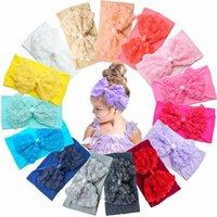 15Pcs Big Multi-Coloredd Chiffon Flower Bows Soft Stretchy Hair Band Headbands for Baby Girls Infants