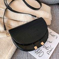 Bags 2021 Solid Color Saddle Bag Fashion New High Quality Pu Leather Womens Handbag Leisure Flap Beautiful Women Shoulder Bag