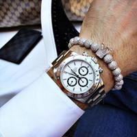 Charm Armbänder Männer Armband Bibklik Slivery Crown Perlen Zirkon geflochtene DIY Pulseira Feminina für Frauen und Schmuck