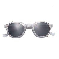 Celulose Flip Up Acetate Sunglass Estoque Pronto Olho Óptica Clip-On Acetate Sunglass