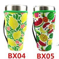 Drinkware Handle 10 StylesNeoprene Tumbler Holder Cover Bags 30 OZ Reusable Insulated Sleeve bag Coffee Mugs EWD8939