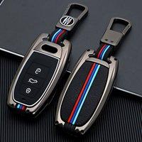 Zinc alloy Car Key Cover Case Shell For Audi A6 A5 Q7 S4 S5 A4 B9 Q7 A4L 4m TT TTS RS 8S 2016 2017 2018 Car Accessories