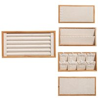 Bamboo And Wood Jewelry Look Pallet Display Props Storage Box Pouches, Bags