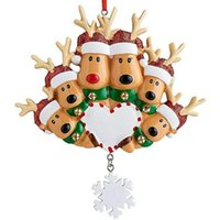 Christmas Decorations Tree Pendant Deer Family Hanging Resin Ornament Home Decoration Gift For