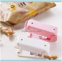 Other Home & Garden Mini Heat Sealing Hine Magnetic Bottom Portable Impulse Seal Packing Plastic Bags Vacuum Food Sealer Zza2105 250Pcs Drop