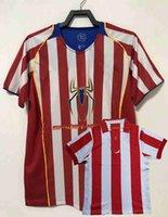 Retro Classic Atletico Soccer Jerseys 1903 2003 2004 2005 Barjuan Denia Larena Simeone F.Torres Madrid 03 04 05 Camisa de fútbol en casa