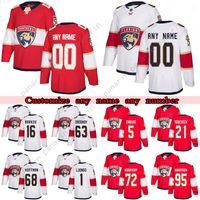 맞춤 플로리다 Panthers Hockey Jerseys 55 Noel Acciari 72 Sergei Bobrovsky 1 Roberto Luongo 5 Aaron Ekblad 모든 번호와 이름