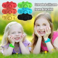 Portable Press Decompression Toys Fidget Simple Dimple Bracelet Toy Stress Relief Hand Pops Figet It Soft Silicone Wristband