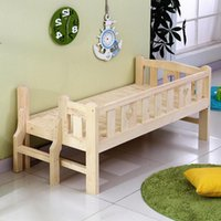Solid Wood High Quality Children Bed Lengthen Widen Combine ...
