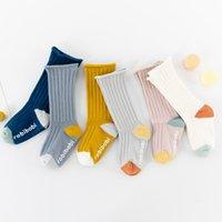 INS 6 Colors Newborn Baby Tube Non-slip Socks Kids Boys Girls Soft Knitted Elastic mid-calf Sock Spring Autumn Toddlers Infant Stockings