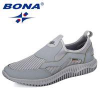Top Quality Bona New Llegada Malla transpirable Krasovki Zapatos Hombres Super Luz Zapatos Casuales Hombre Tenis Masculino Zapatillas De Zapatillas De Zapatillas Masculinas Calzado
