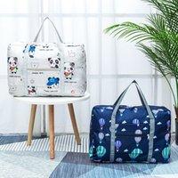 بقعة الطائرة قابلة للطي حقيبة تخزين سفر تتحرك الملابس التشطيب حقيبة الكتف التسوق حقيبة تخزين الأمتعة
