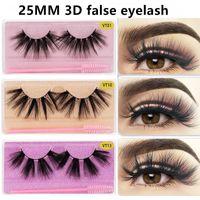 2021 25mm Falsche Wimpern Weiche Licht Gefälschte 3D Bunte Glitter Wimpernverlängerung Faux Wimpern mit Pinsel Makeup Schönheit