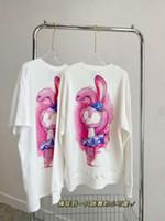 Automne et hiver Femme College Style Peluche Rabbit Ronde Pull Couleur Casual Fashion Manches courtes 08264