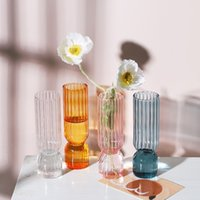 Nordic Vase Glas Blase Vasen Transparent Hydroponic Terrarium Desktop Blume Anordnung Wohnzimmer Ornament Dekor