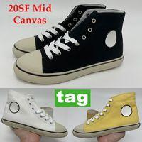 2021 الأزياء 20sf منتصف قماش المرأة عارضة أحذية سوداء أبيض أصفر حزب التسوق منصة أحذية رياضية صفيحة الدانتيل يصل espadrilles 35-40